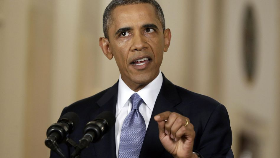 US President Barack Obama gives his televised address to the nation from the White House on Tuesday.
