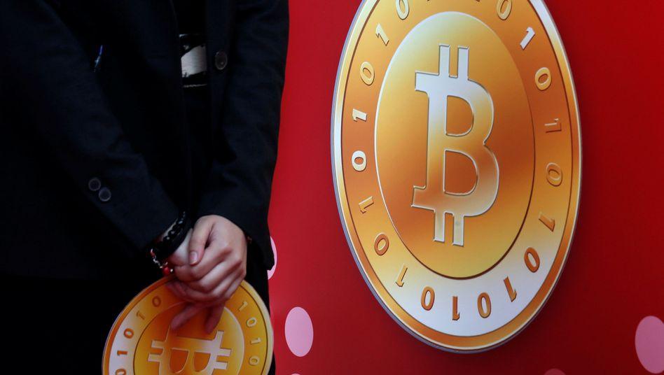 Bitcoin-Symbol in Hongkong