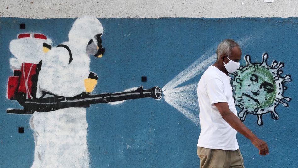 Street-Art-Künstler weltweit verwandeln die Coronakrise in Kunst