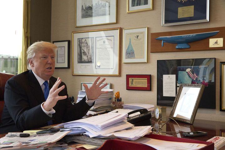 Donald Trump in seinem Büro im Trump Tower