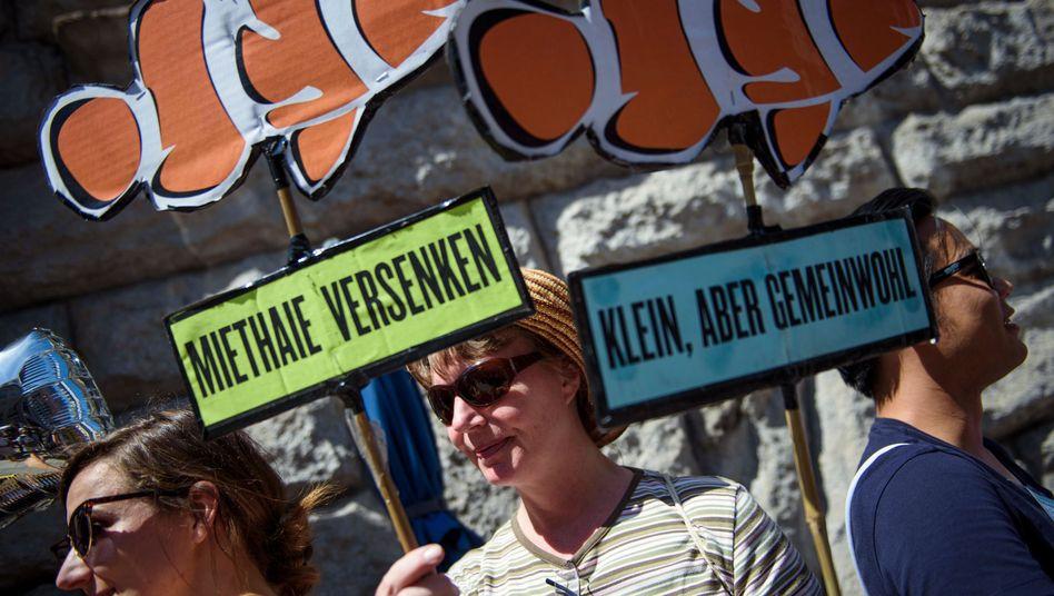 Demonstration von Enteignungsinitiative in Berlin