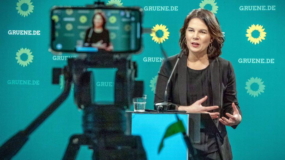 Grüne Bundesvorsitzende Annalena Baerbock, 29. März 2021