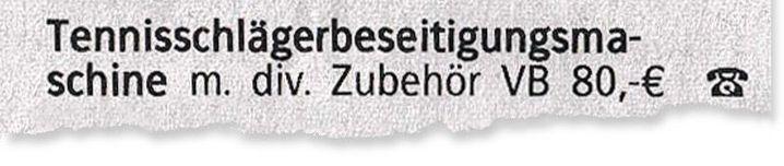 Anzeige in der »Braunschweiger Zeitung«