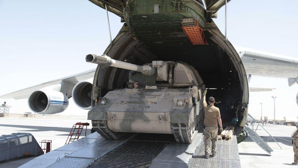 """Panzerhaubitze 2000 der Bundeswehr in Afghanistan: Mögliche Anfrage aus Litauen """"wohlwollend prüfen"""""""