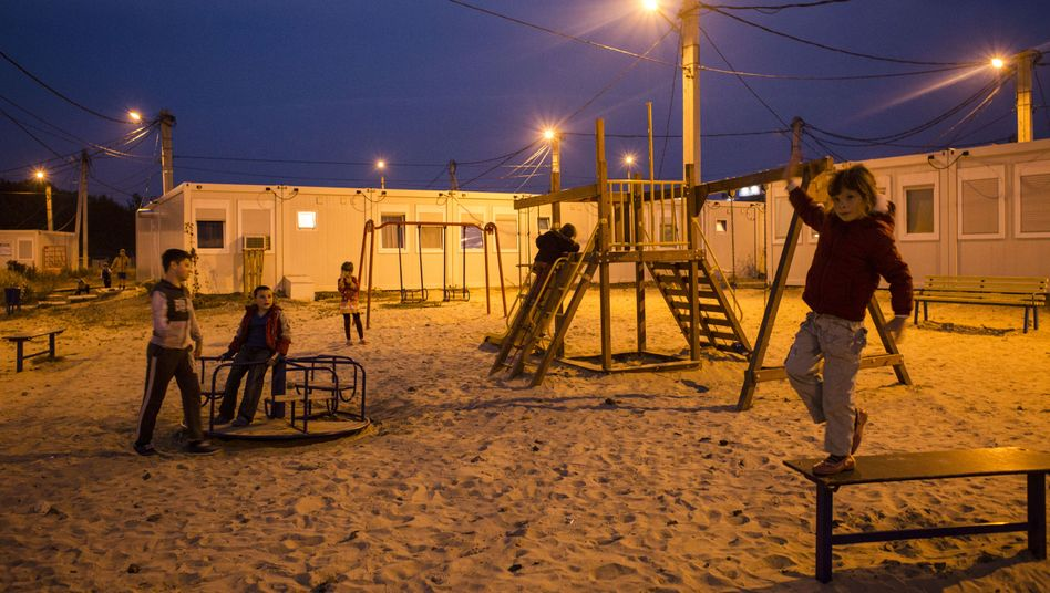 "Children in the ""Hope"" refugee camp in Kharkiv"