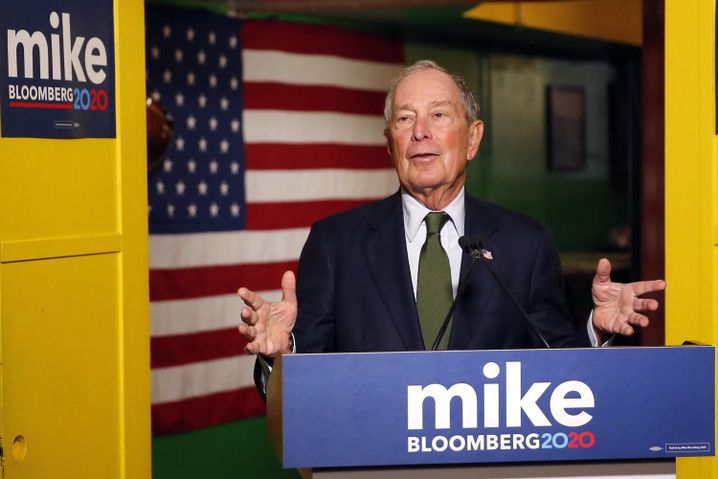 Michael Bloomberg in Phoenix, Arizona