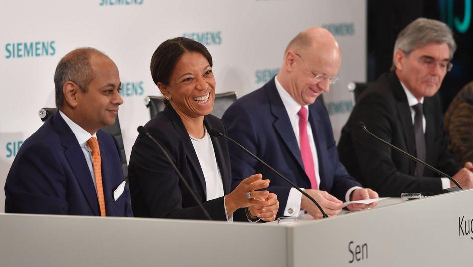 Ehemalige Siemens-Personalvorständin Kugel mit Vorstandskollegen (2018)