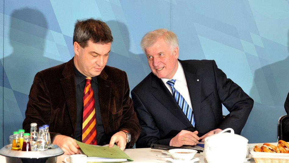 CSU-Mann Söder (links, mit Seehofer und Wirtschaftsminister Zeil): Wirbel um Spruch
