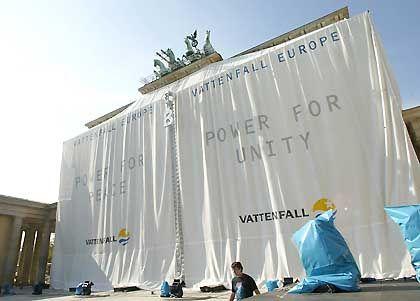 Zwei Jahre saniert: das Brandenburger Tor