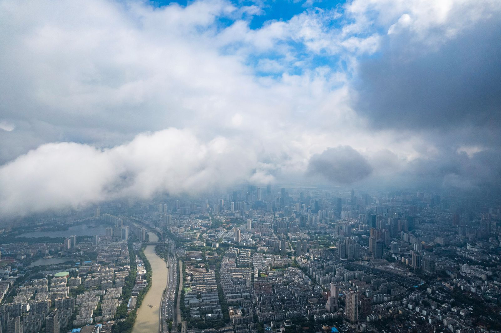 City in sea of clouds