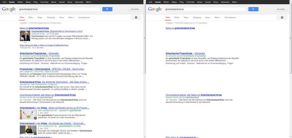 Web-Links unter einer Google-Suche: Wie lang ist kurz? Wann wird aus kurz zu lang?