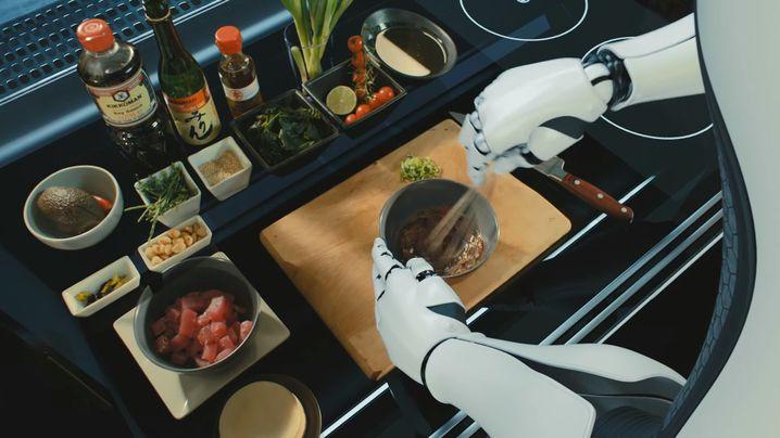 Gesichtslos: Der Küchenroboter besteht im Wesentlichen aus zwei Armen