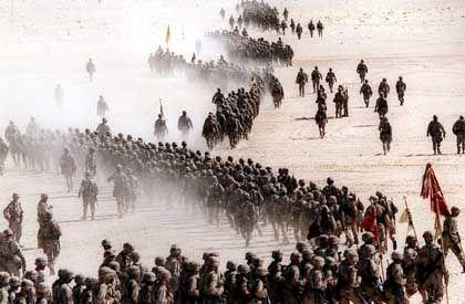 US-Truppen vor Beginn des Golfkrieges: Diesmal soll Saddam Hussein gestürzt werden.