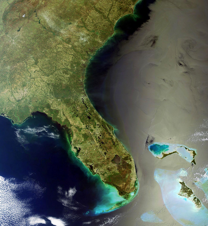 Satellitenbild / Ölteppich / Golf von Mexiko