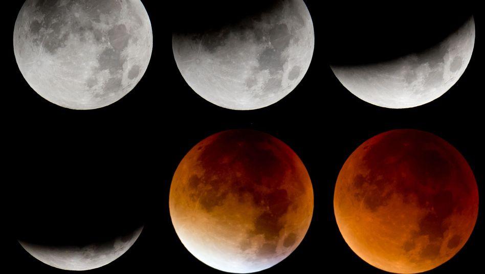 Phasen der totalen Mondfinsternis