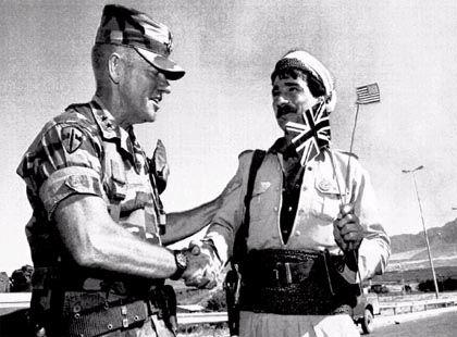 Bewaffneter Export von Demokratie und Freiheit: Archivbild des künftigen Machthabers Garner
