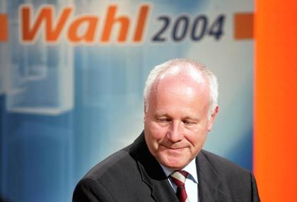 Sachsens Ministerpräsident Milbradt: Enttäuschung nach Bekanntgabe der ersten Hochrechnung