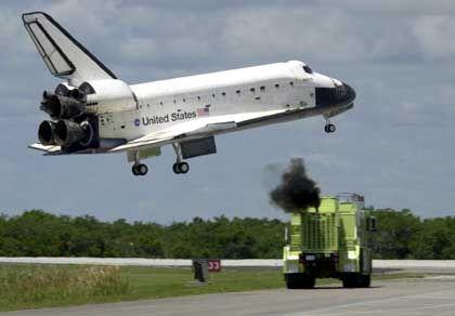 """Shuttle-Landung: """"Das war nicht gut"""""""