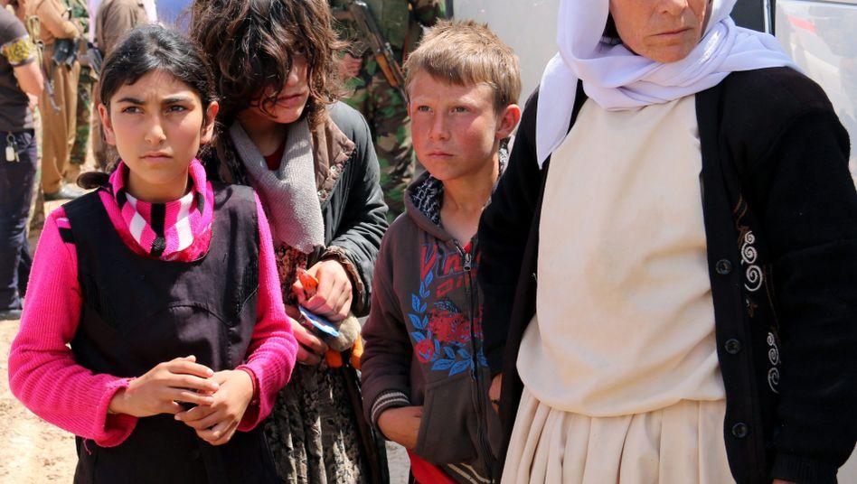 Jesiden an einen Kontrollposten im nordirakischen Kirkuk (Archivbild)
