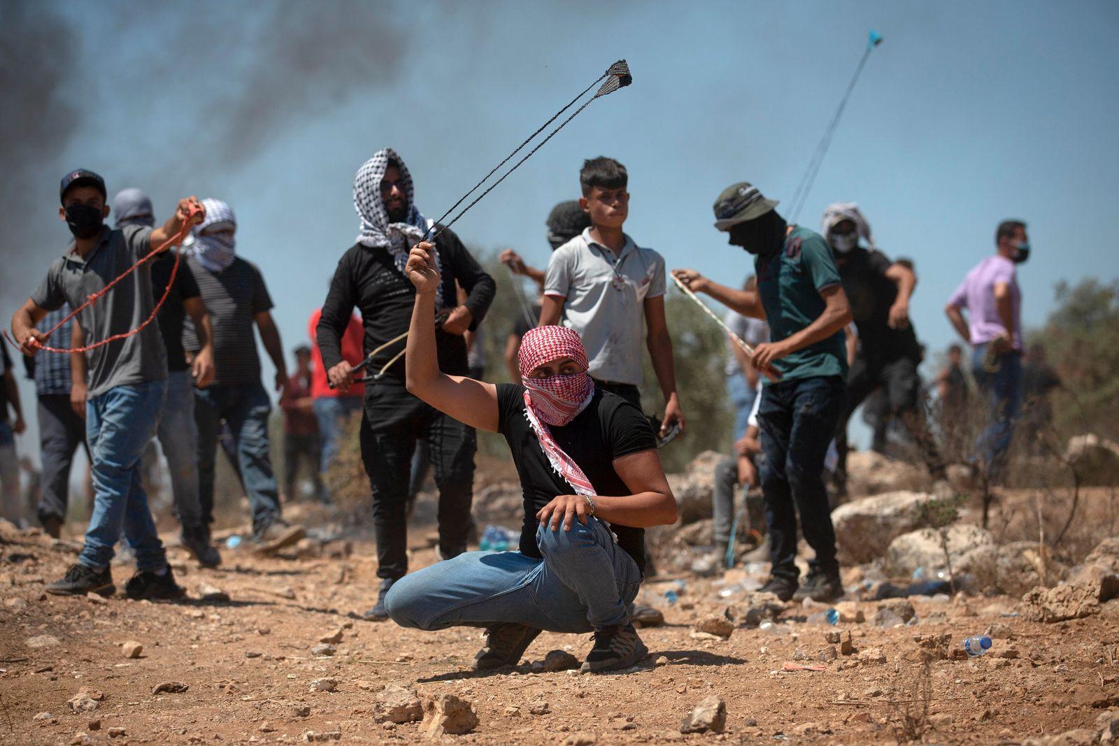Palästinenser protestieren gegen neue Siedlung