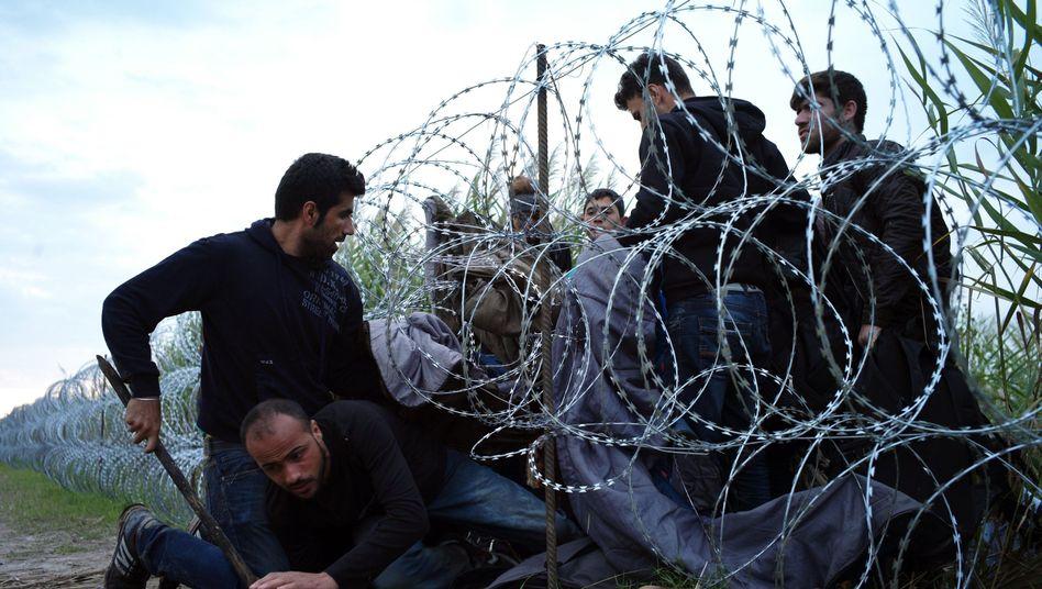 Verschärfte Grenzkontrollen: Ungarns Polizei setzt Tränengasgegen Flüchtlinge ein