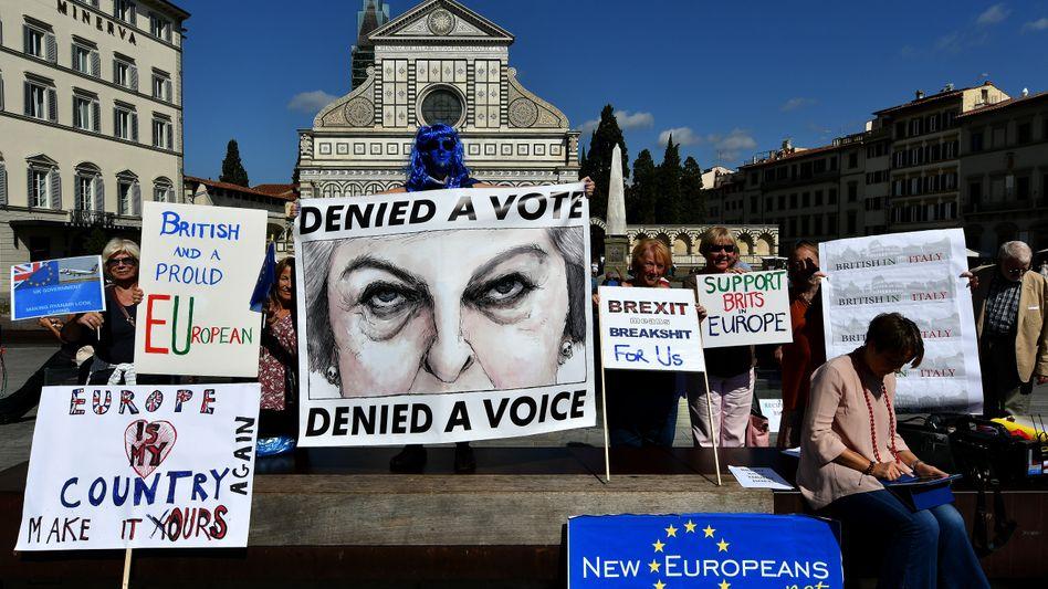 Anti-Brexit-Protest in Florenz (Archivbild)