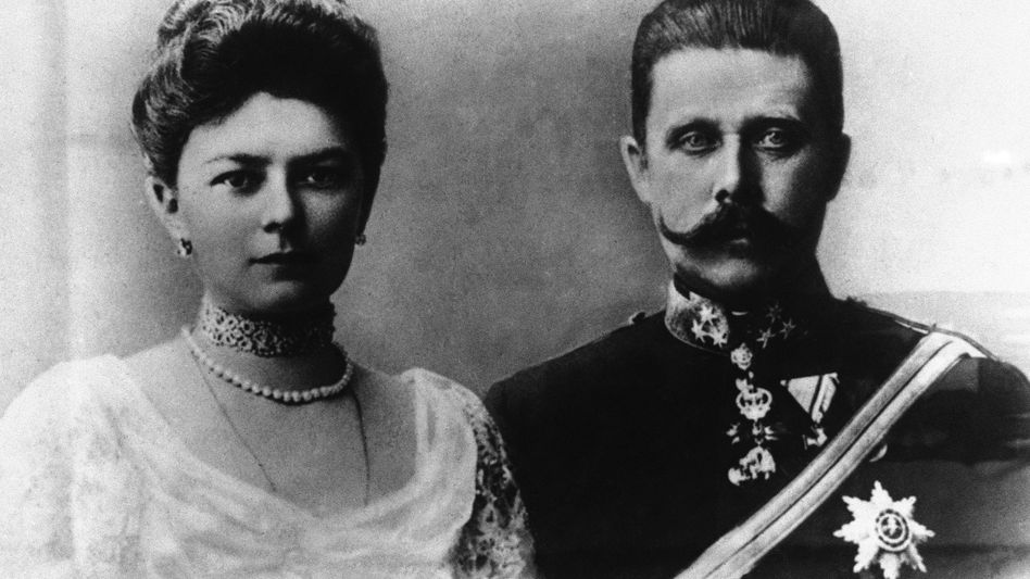 Archduke Franz Ferdinand of Austria-Hungary and his wife, Czech Countess Sophie Chotek , circa 1914. In 1892, the archduke took a fantastic journey around the world.