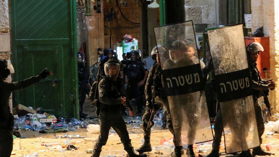 Israelische Polizei am Tempelberg