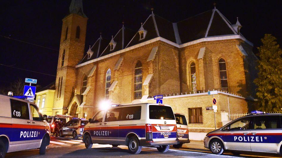 Kirche, in der die Ordensbrüder überfallen wurden (Dezember 2018)