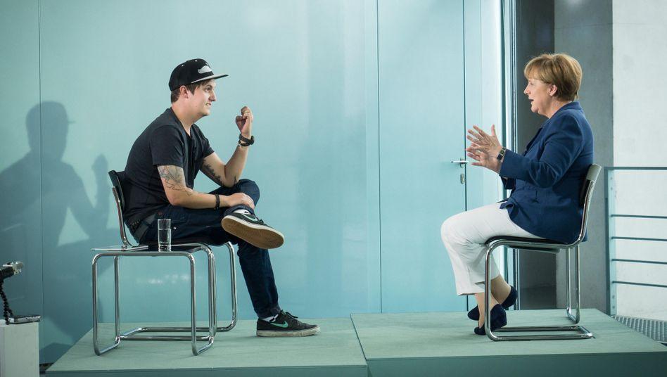 "LeFloid und Merkel im Kanzleramt: ""Fucking YouTuber, fucking Kanzlerin"""