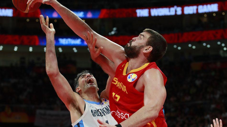 Marc Gasol (r.) dominierte in der Defensive