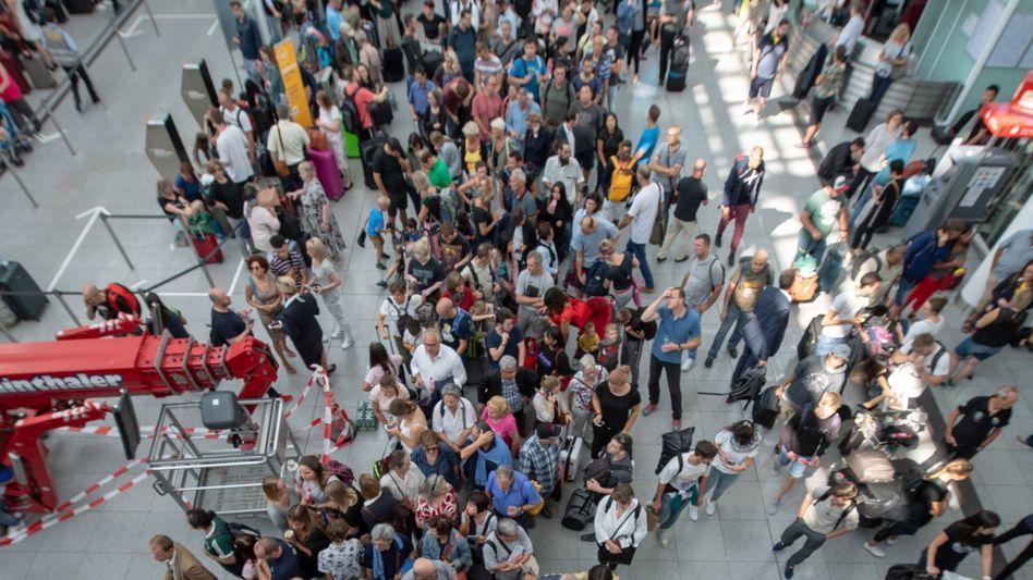 Terminal 2 des Münchner Flughafens: Chaos nach Sicherheitspanne