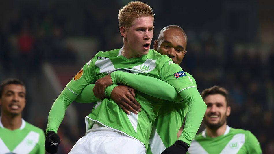 Wolfsburgs De Bruyne: Von seinen Mitspielern gehuldigt