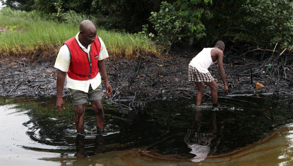 """Ölverschmutzung im nigerianischen Bodo (Archivbild): """"Zutiefst enttäuschend"""""""
