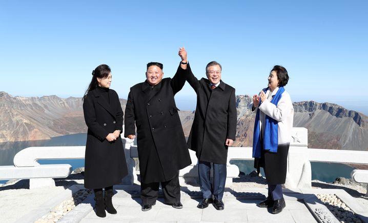 Moon und Kim im September 2018