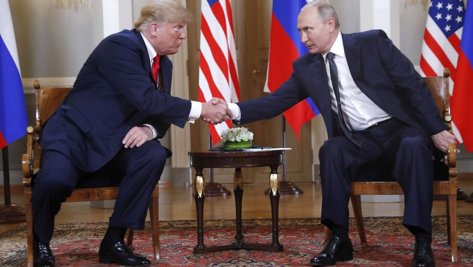 Trump und Putin in Helsinki, Juli 2018