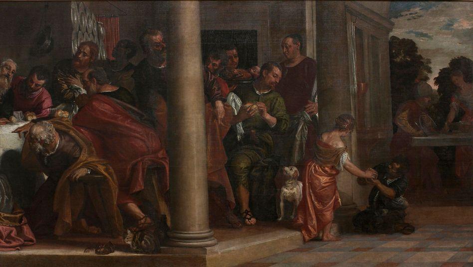 """Paolo Veronese, """"Das letzte Abendmahl"""" (Gemälde aus dem 16. Jahrhundert)"""