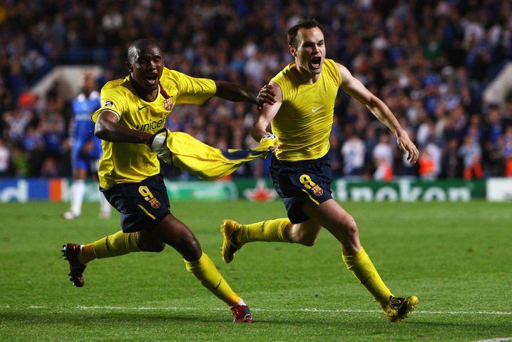 Iniesta nach dem Ausgleichstor im Champions-League-Halbfinale 2009 gegen Chelsea