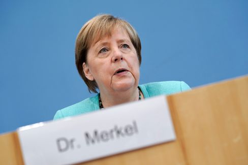 Angela Merkel at her summer press conference on June 22