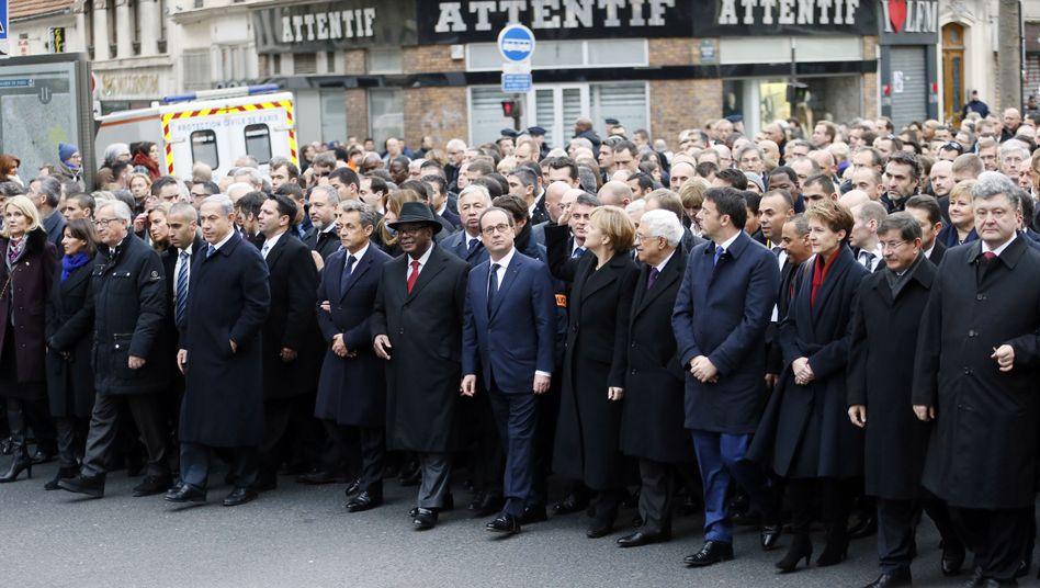 Trauermarsch in Paris: Christen, Juden, Muslime - vereint gegen den Terror