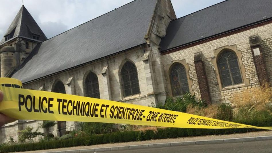 Gesperrte Kirche in Saint-Étienne-du-Rouvray