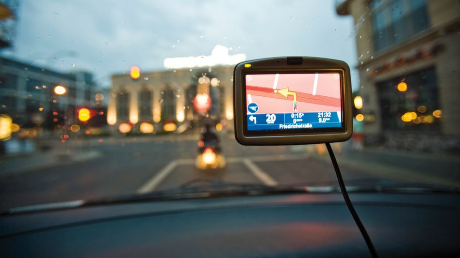 Klassisches Navigationsgerät (Symbolbild)
