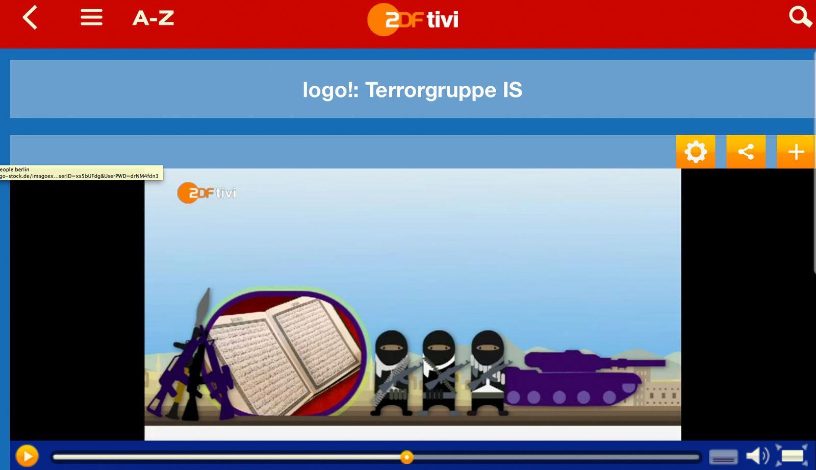 EINMALIGE VERWENDUNG SCREENSHOT NUR ALS ZITAT: Logo Nachrichten/ Terrorgruppe IS