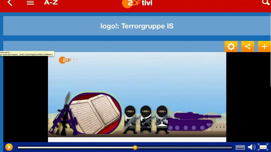 Logo-Nachrichtenvideo zum IS (Screenshot)