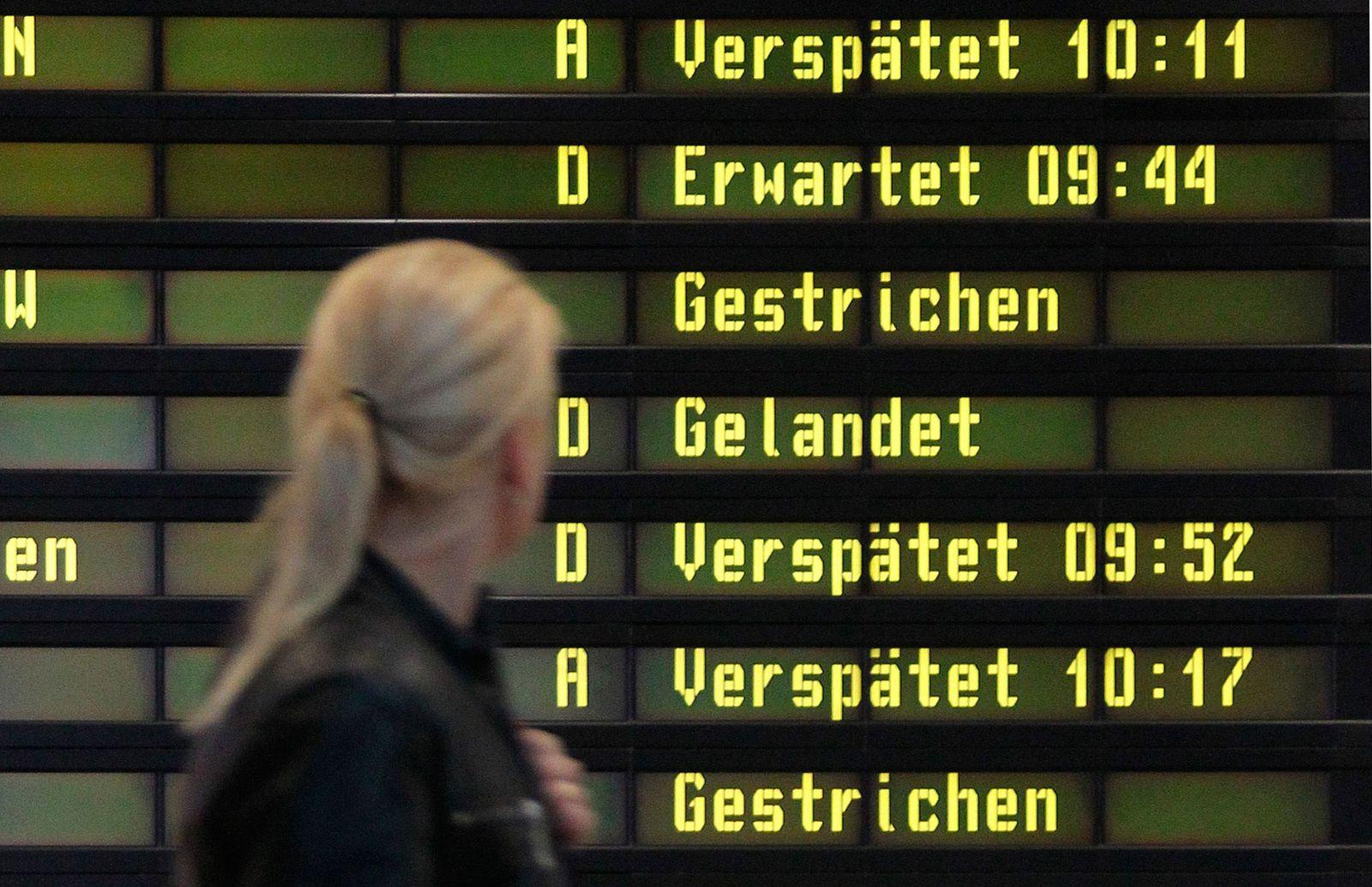 EINMALIGE VERWENDUNG Flug / Verspätet / Symbol