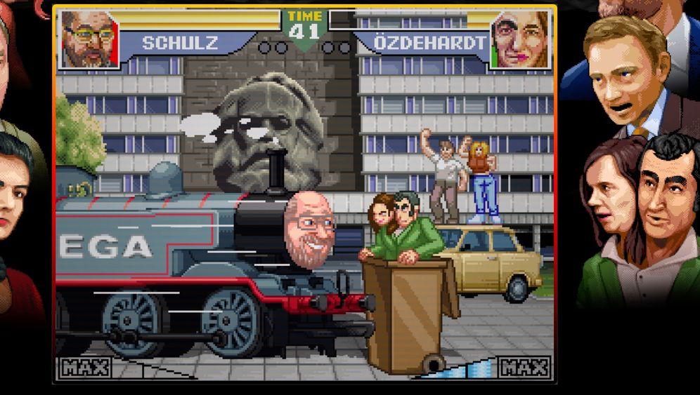"""Browserspiel """"Bundesfighter"""": Das sind die skurrilen Spezialattacken"""