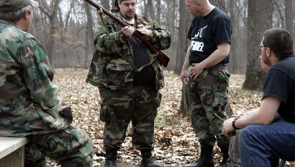 """US-Militia-Mitglieder in Brighton, Michigan: """"Wütend, gekränkt und voller Angst"""""""