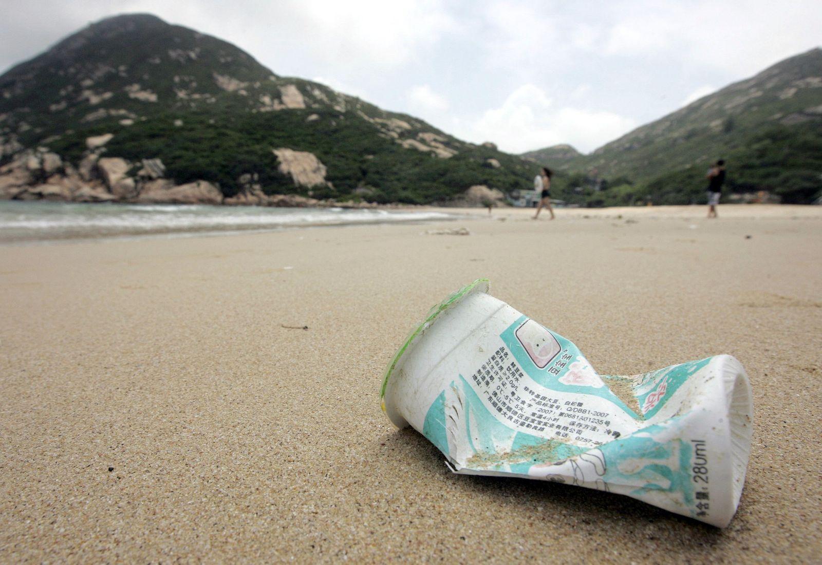 Plastikabfälle/Strand
