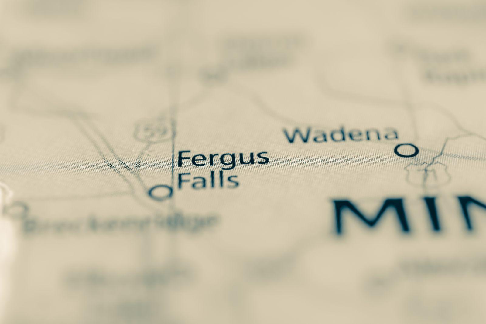EINMALIGE VERWENDUNG PLUS DER SPIEGEL S. 56 Fergus Falls Karte