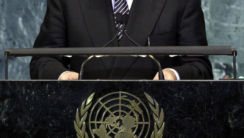 Luxembourg Prime Minister Jean Asselborn appears before the United Nations General Assembly in this 2010 archive photo.